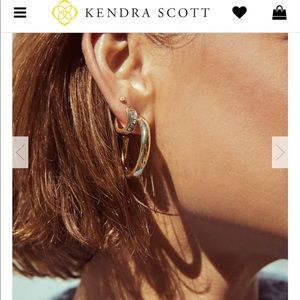 Kendra Scott Colette hoop earrings in silver
